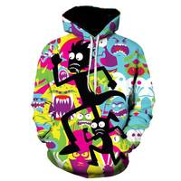 Paint Skull 3D Printed Hoodies Men Women Sweatshirts Hooded Pullover Brand 5xl Qaulity Tracksuits Boy Coats