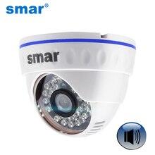 Onvif HD 720P 960P 1080P cámara IP soporte de Audio flexible micrófono externo recogida día noche Domo Cámara plástico ABS de lente de 3,6mm