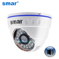 Onvif Full HD 1080P IP Camera Support Audio With External Microphone Pickup Day Night Dome Camera