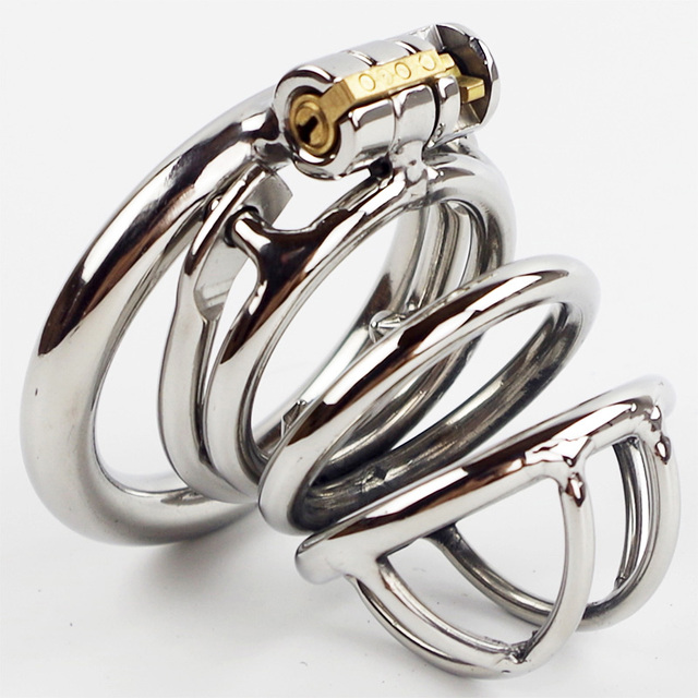 Anti off version short paragraph male chastity penis lockt ball stretcher stainless steel ball stretcher sex ring for men