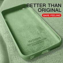 Тонкий мягкий чехол для iPhone 7 8 6 6s Plus 5S 4 жидкий силиконовый чехол карамельный цвет Coque Capa для iPhone X Xs 11 Pro Max XR