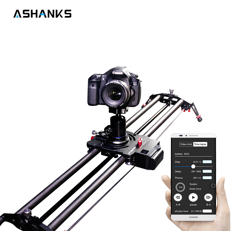 Bluetooth Carbon Camera Slider Motorized TimeLapse Electric Delay Slide Track Rail Stabilizer for Photography Canon DSLR Video doitop smart electric photography slide car 3 wheel video track rail with tripod head for dslr camera camcorder cellphones a3