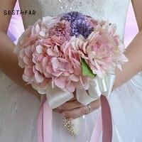 Amazing Flowers Wedding Bride Bouquet Romantic Bridal Bouquet Artificial Rose Brides Wedding Accessories