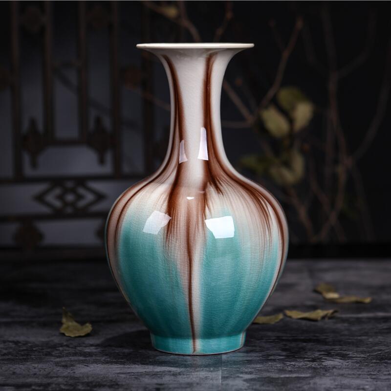 Jingdezhen Rice-pattern Porcelain Chinese Vase Antique Blue-and-white Bone China Decorated Ceramic Vase vase