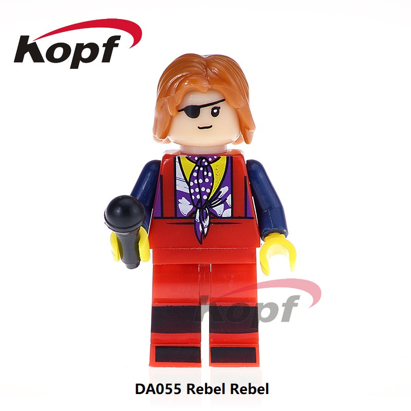 Single Sale Super Heroes Rebel Rebel David Bowie Ziggy Stardust Zatanna Dexter Morgan Building Blocks Children Toys Gift DA055