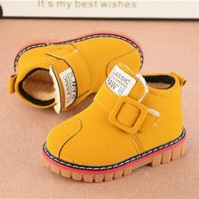 baby winter shoes Warmbaby girls booties Leather snow shoes Martin Short girls boots Shoes Dropshipping Ship from US(China)
