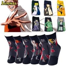 Japan New Men Cotton Long Socks Cartoon Fashion Anime 3D Meias Naruto Streetwear