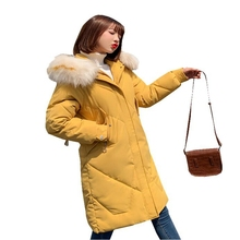 new Long warm thick female jacket winter warm jacket women women's winter jacket wadded down outwear chaqueta mujer coat parka
