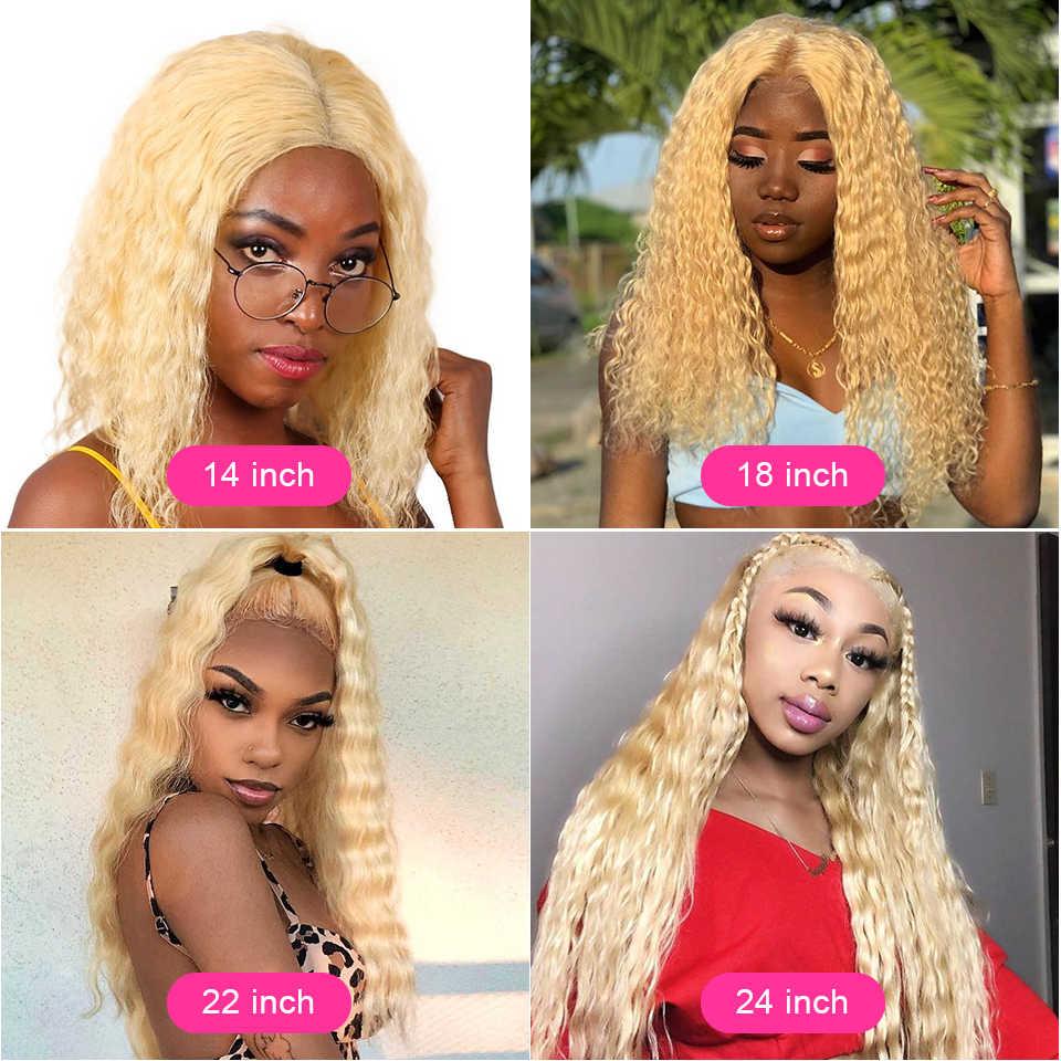 Pelucas de cabello humano de encaje Cexxy pelucas de cabello humano rubio rizado Pre desplumado con pelo de bebé envío gratis