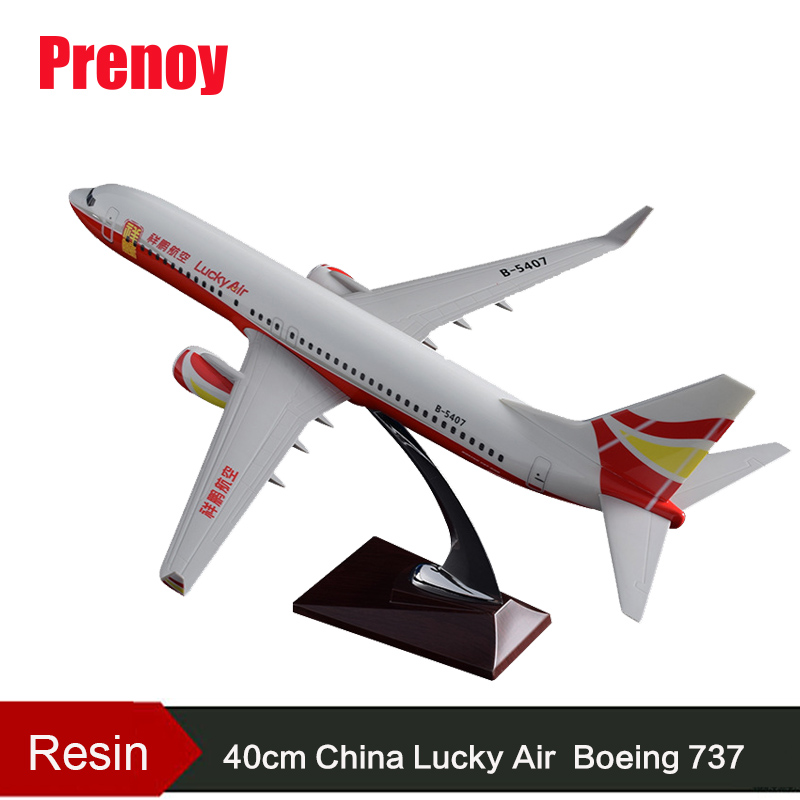 40cm Resin Lucky Air Aircraft Model Boeing 737 Airlines Airplane Model B737 Airway Airbus Model China Lucky Aviation Plane Model inflight china southern airlines b 5157 1 400 b737 800 commercial jetliners plane model hobby