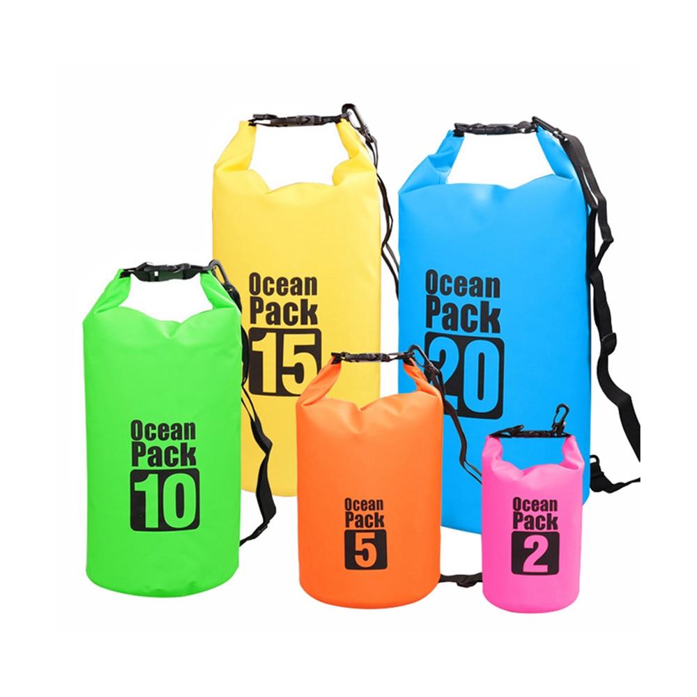 15l 20l Waterproof Dry Bag Outdoor Swimming Camping Rafting Storage Pvc Swimming Bag Good Taste