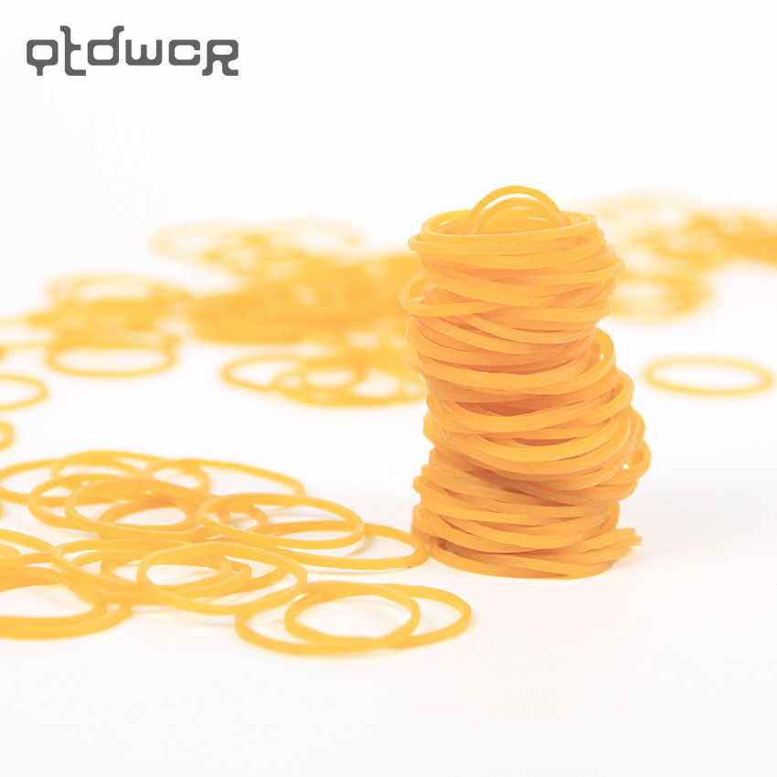 100PCS/bag High Quality Stationery Holder Thermostability Rubber Bands Strong Elastic Hair Band Loop Office Supplies