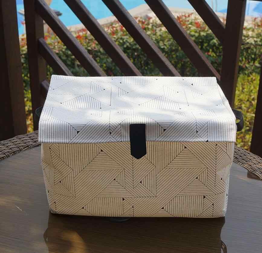 Nova faixa De Armazenamento Caixa de Armazenamento de Mesa de Linho de Algodão Cesta de Armazenamento de roupas Organizador Cosméticos Caixa de Armazenamento De Brinquedos Infantis Balde AU877