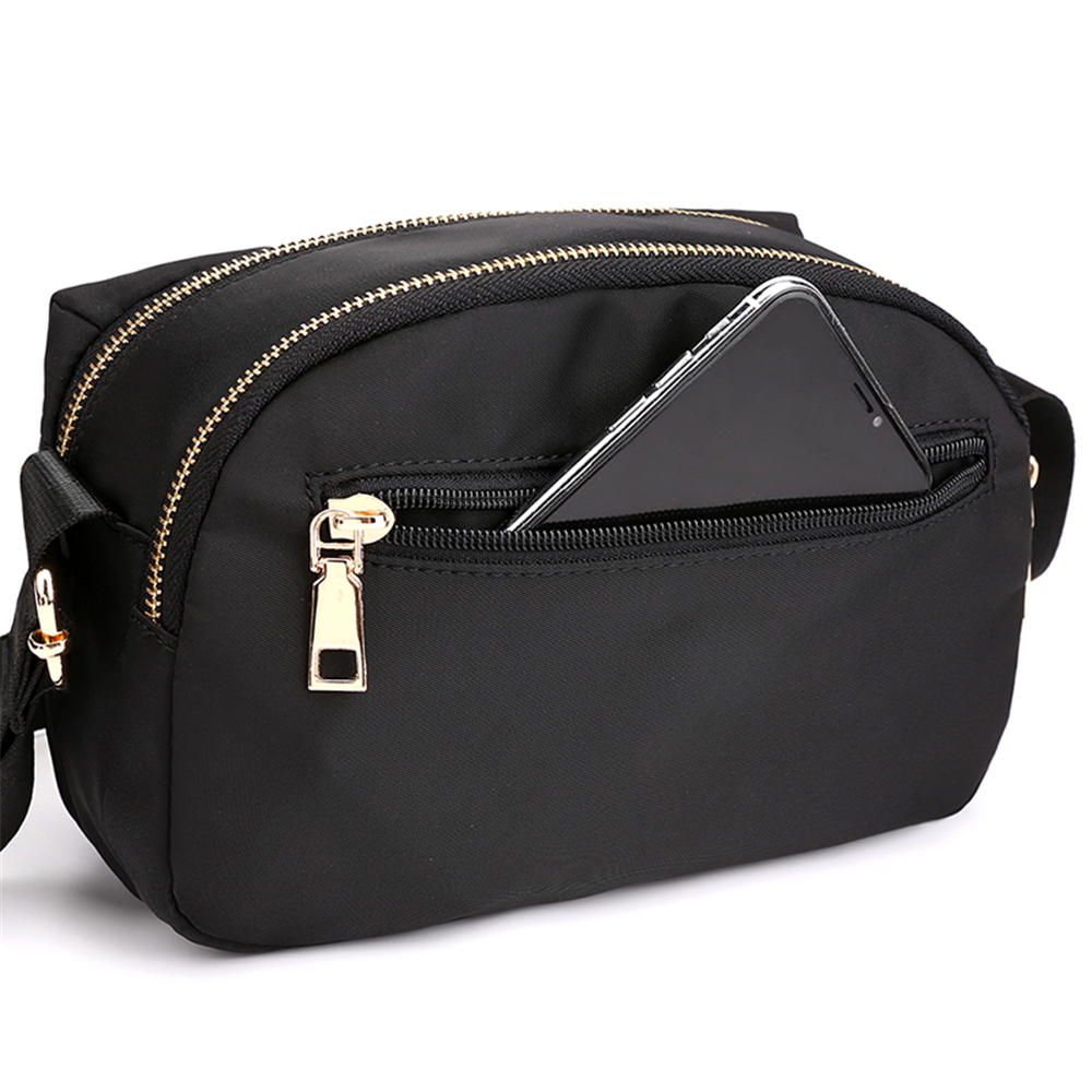 Ladies Female Shoulder Bag Designer Big Zipper Solid Nylon Luxury Handbags Women Crossbody Bags Black Vintage Bag Bolsos in Shoulder Bags from Luggage Bags