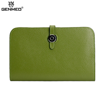 New Arrival Genuine Leather Wallets 2016 Women Passport Cow Leather Wallet Phone Pocket Clutch Purse Card