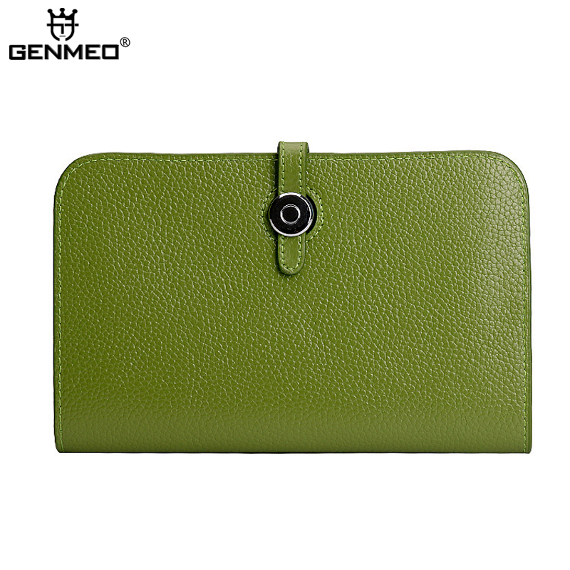 New Arrival Genuine Leather Wallets Women Cow Leather Wallet with Phone Pocket Sexy Ladies Passport Clutch Card Holder Purse kenneth cole new york womens leather clutch wallet w iphone smart phone pocket
