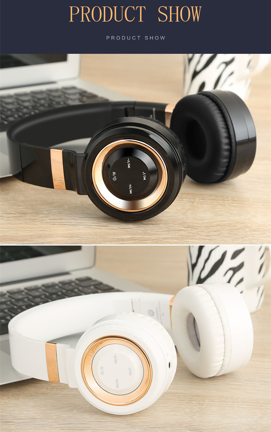 Sound Intone P6 S Bluetooth Headsets Stereo wireless Headphones With MIC Support FM Radio TF Card Earphone For iPhone Xiaomi PC 20
