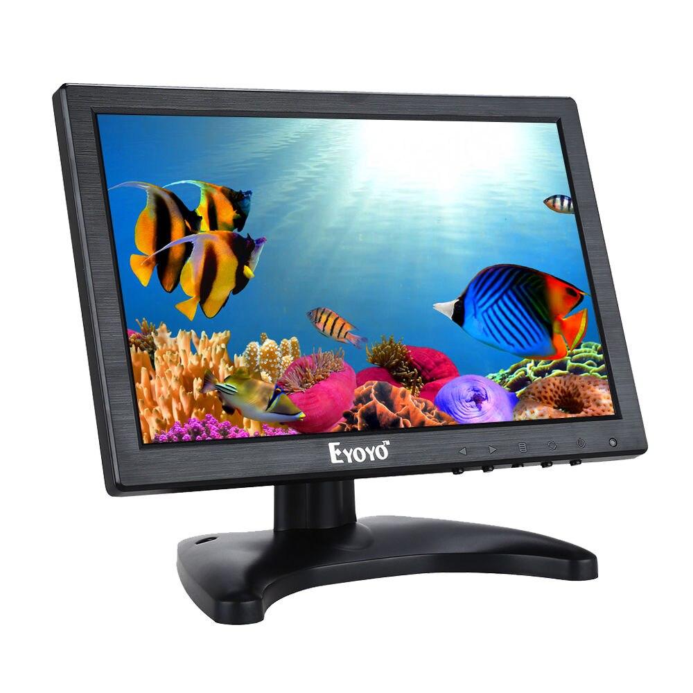 Eyoyo H1016 10 pouces IPS LCD HD moniteur 1080 P CCTV moniteur vidéo HDMl VGA AV BNC haut-parleur intégré pour la sécurité CCTV caméra PC