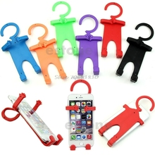 Flexible Silicon Cell Phone Holder Car Home Mobile Hanger Mount for Smartphone