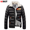 LKBEST 2017 thin winter jacket men casual fur collar Causal Outerwear Donw Jackets For Man brand clothing men Overcoat (PW605L)