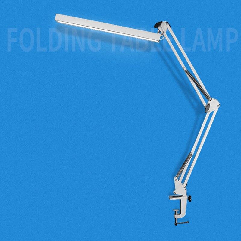 Élégant En Métal LED Architecte Bureau Lampe Pince Lampe Lumière de Bureau avec USB Bras Oscillant Dimmable Lampe De Travail 3 Niveaux de Luminosité