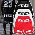 Cheap Brand Style 2017 Pyrex Shorts For Men Loose Harajuku Slim Shorts Hot Hip-hop Street Drop Ship M L XL