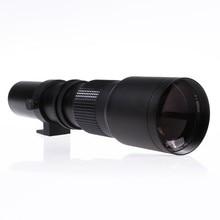 Lentes de cámara de 500mm Teleobjetivo F8.0 Lente Zoom Manual con T-mount para nikon d5000 dslr d5300 d7100 d7000 d90 d800 d810 cámara