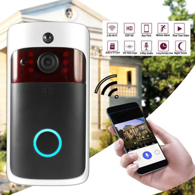 Smart Wireless WiFi Security DoorBell Visual Recording Consumption Remote Home Monitoring Night Vision Smart Video Door Phone smart wireless wifi security video intercom doorbell visual recording consumption remote home doorbell video door bell ring cam