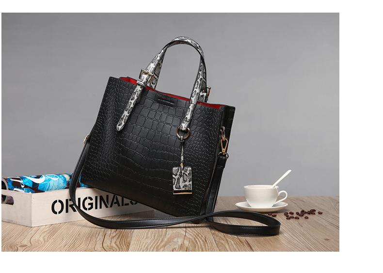Alligator PU Women Shoulder Bag Large Luxury Brand Designer Handbag