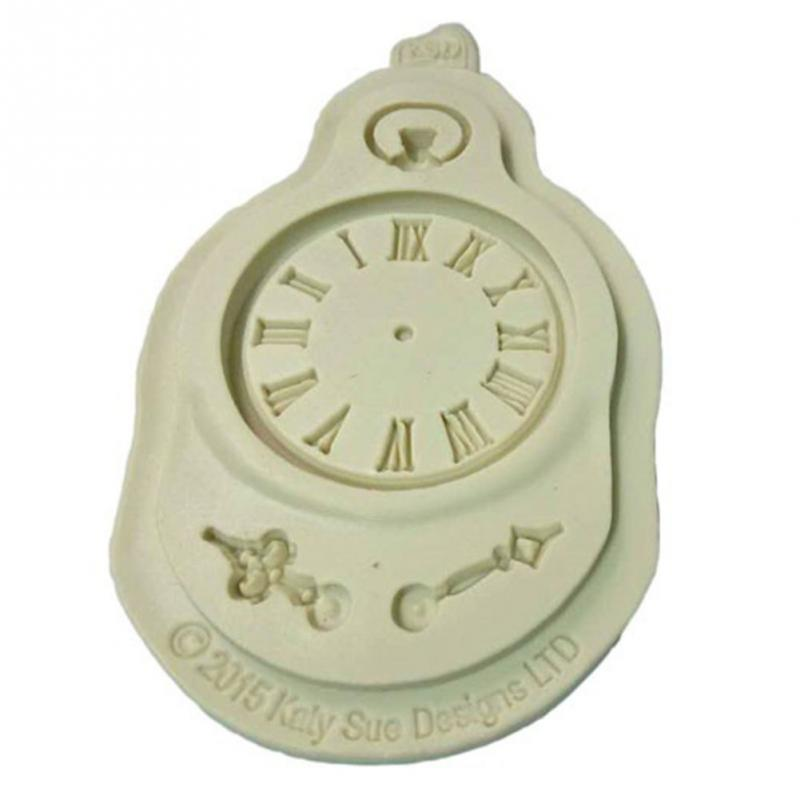New Kitchen Accessories Silicone Molds Fondant Cake Mold High Quality Clock Pocket Watch Cupcake Decoration Tools