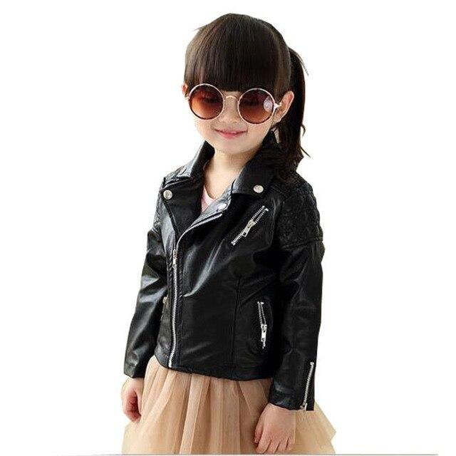 b2204c8f5 Niños ropa de Moda Para Niños Niñas Chaqueta de Cuero PU de Los Niños de la  ...