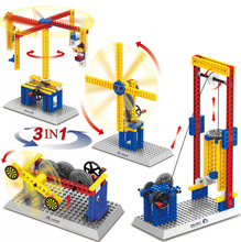 Mechanical Gear Technic Building Blocks Engineering  student model bricks Compatible with