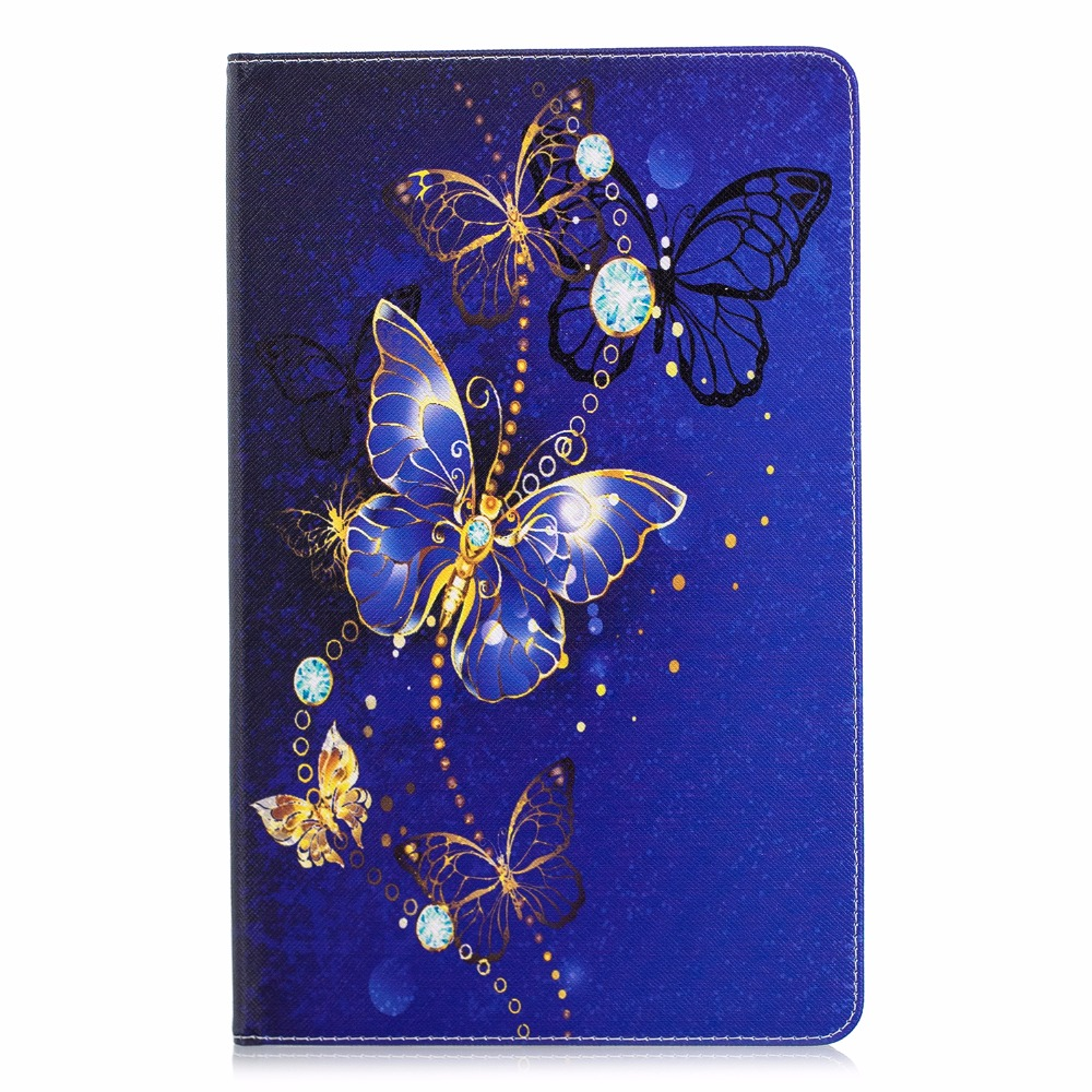 Case For Samsung Galaxy Tab A A2 2018 10.5 Inch T590 T595 SM-T590 SM-T595 PU Leather Print Cover Funda