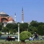 Hagia Sophia  Istanbul  Turkey Poster Print (18 x 6)
