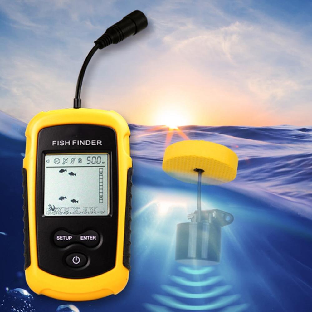 Sonar PureLeisure Fisch 2 pouces Sonar à poisson Buscador Peces Outlife détecteur de poisson pare-soleil détecteur de pêche Sonar d'alarme profondeur océan 100 M