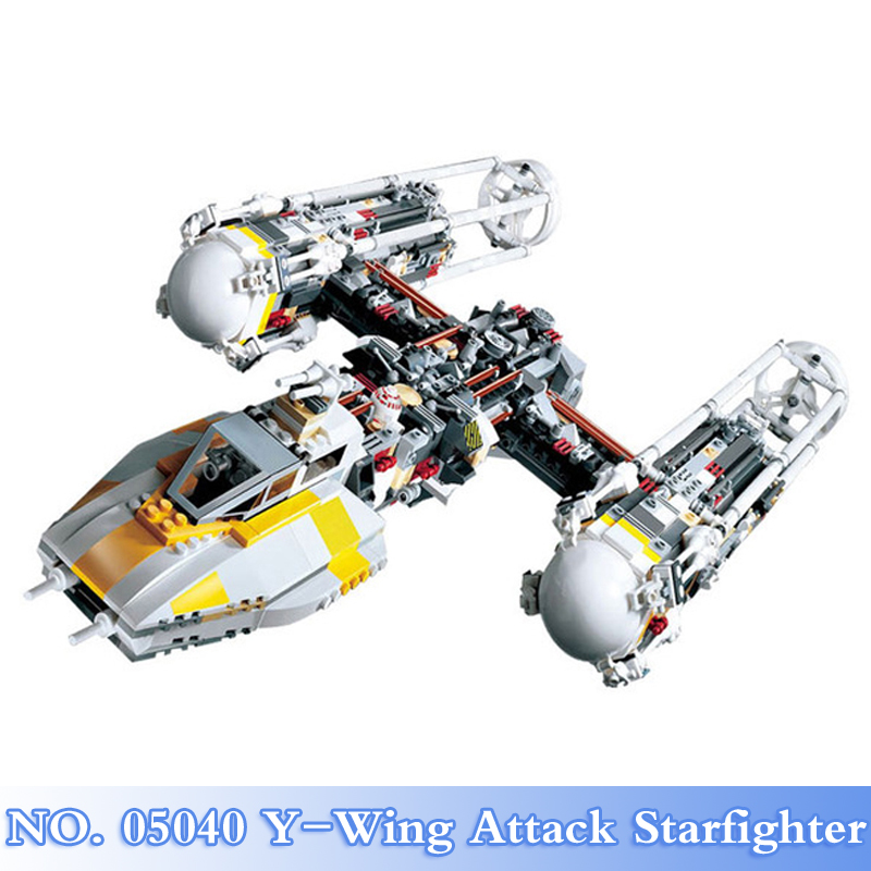 Lepin 05040 Star War 1473Pcs Y-Wing Attack Starfighter Figures Building Blocks Bricks Sets Kids Toy Model Kits Compatible 10134 a toy a dream lepin 15008 2462pcs city street creator green grocer model building kits blocks bricks compatible 10185