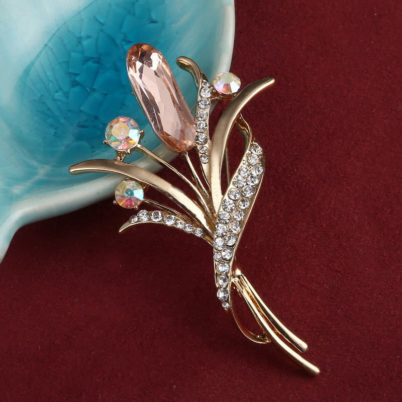 Fashion Rhinestone Champagne Brooch Pin Women Wedding Bridal Party Flower  Crystal Bouquet Brooch Gifts  In Brooches From Jewelry U0026 Accessories On ...