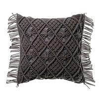Macrame Decorative wedding pillow cover Handmade macrame Boho Black cushion cover wholesale and retail cushion cover