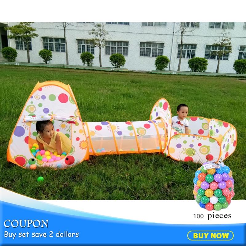 Copii 3pcs / set Piscină-Tube-Teepee Corturi de jucărie Pop-up - Sport și în aer liber