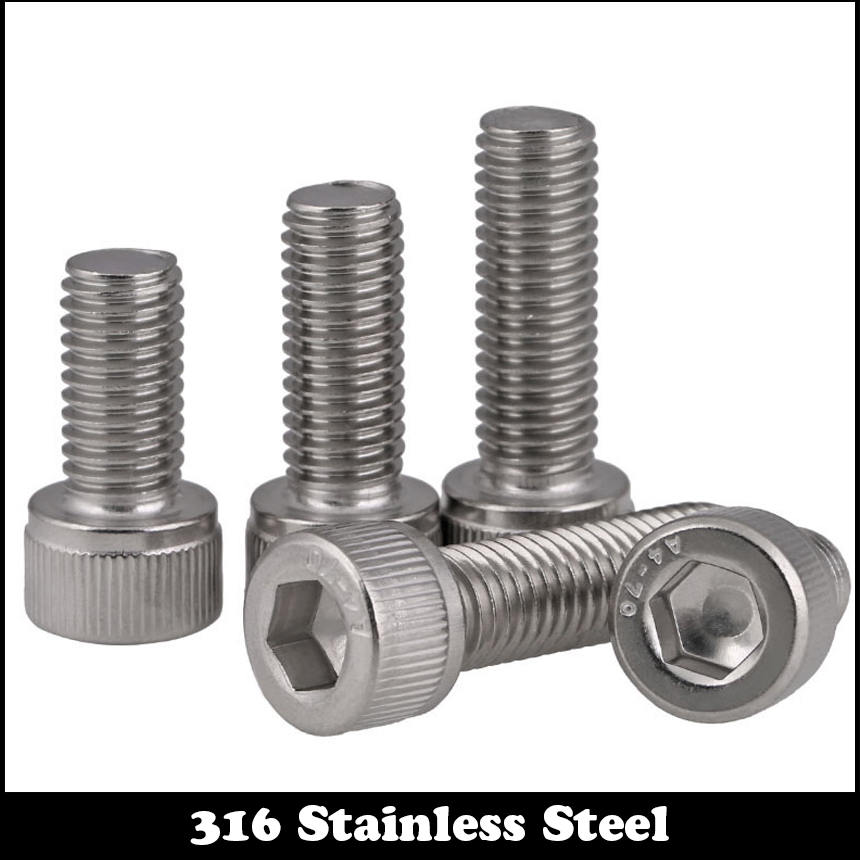 20pcs M2 4mm M2*4mm M2X4 DIN912 Screws 316 Ss Stainless Steel Cup Cap Allen Head Bolts Inner Hexagon Socket Screw 20pcs m4 m5 m6 din912 304 stainless steel hexagon socket head cap screws hex socket bicycle bolts hw003
