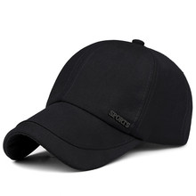 Mens Baseball Cap Dome Adjustable Casual leisure hats Solid Color Sun Hat High Quality