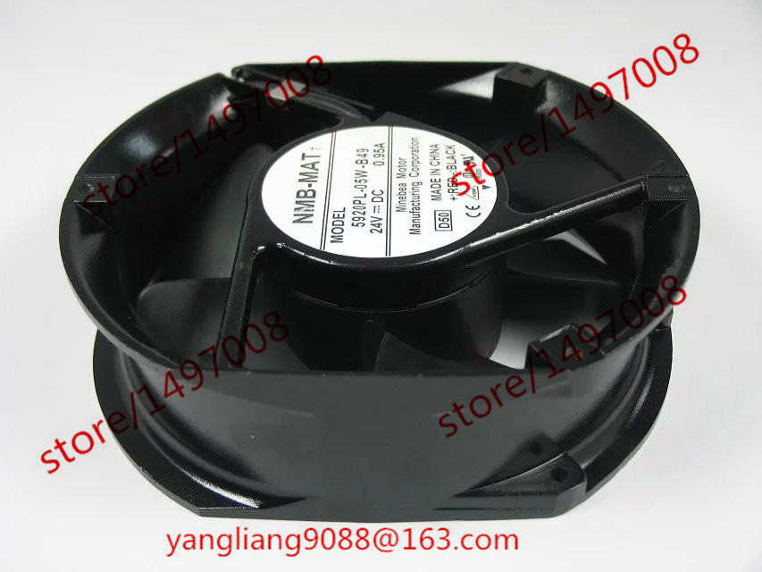 NMB-MAT 5920PL-05W-B49 D50 DC 24V 0.95A 3-wire 125x125x35mm Server Round Fan new original nmb 9cm9038 3615rl 05w b49 24v0 73a 92 92 38mm large volume inverter fan