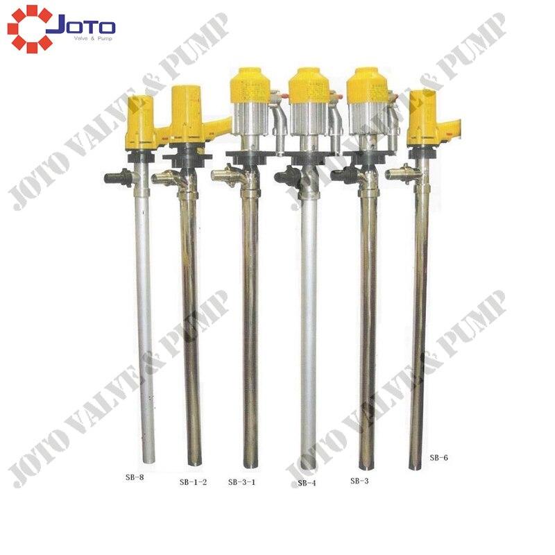 9.19Best-seller SB-1-1 110L/Min pompe à baril électrique pompe de transfert de carburant pour 220 V (tube en acier inoxydable et roue en plastique)