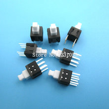 20PCS/Lot 5.8X5.8MM 5.8*5.8MM Self locking Switch Push Button Switch DIP 6 Pins Tactile Pushbutton Key Switch Wholesale