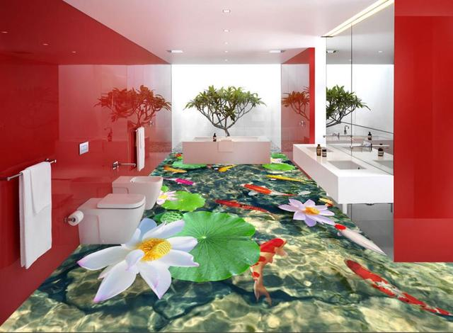 D bodenbelag bad benutzerdefinierte d stereoskopischen farbe