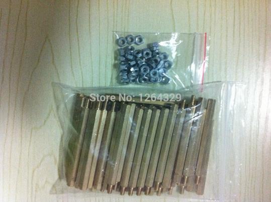 50 unids/lote M3 * 50 mm / 6 mm + 50 mm de alto PCB columna de cobre pie + 50 tuercas, tornillos de fijación ( que contienen los frutos secos )