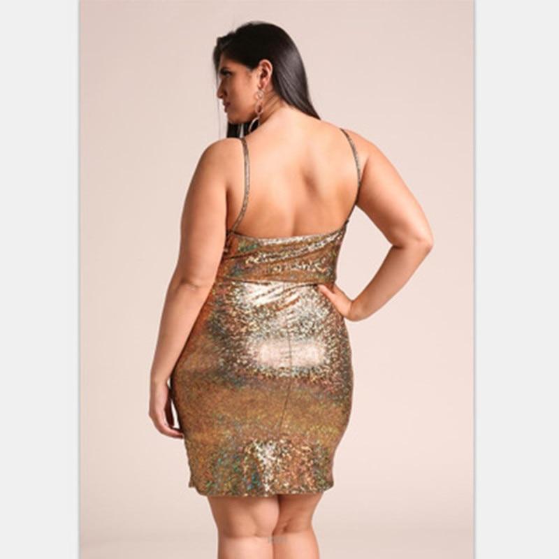 Women Sexy Sling Big Size Dress Gold Color Long Ladies Casual Dress Print Dot Sundress 2019 Top Spring Fashion