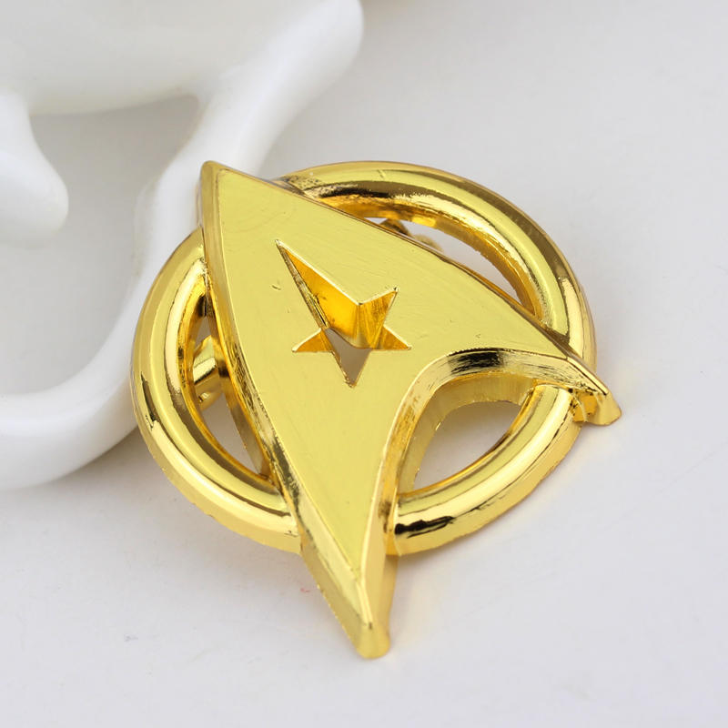 Star Trek Cosplay  The Captain Badge Weapons Cosplay Brooch Pendant Gift Fans Collections Props Gift Drop Ship