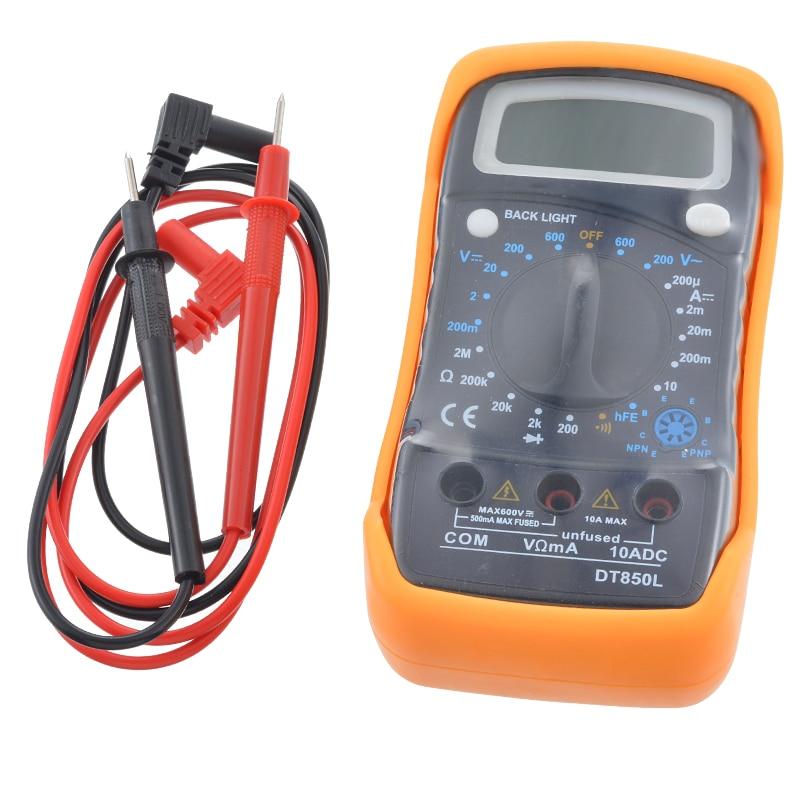 Urijk Portable Digital Multimeter Backlight AC/DC Ammeter Voltmeter Ohm Tester Meter XL830L Handheld LCD Multimetr-in Multimeters from Tools