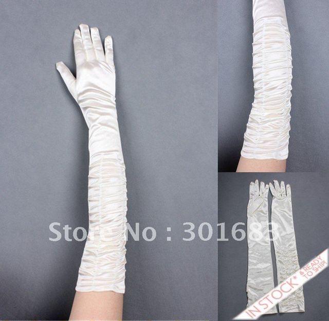 Frete grátis na loja rgl014 hotsale dedo longas luvas de noiva